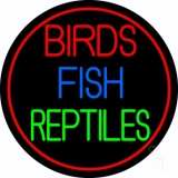 Birds Fish Reptiles 2 Neon Sign