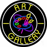 Art Gallery With Logo Neon Sign