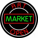 Art Market Open 1 Neon Sign