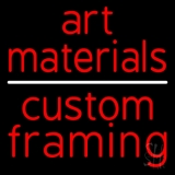 Art Materials Custom Framing Neon Sign