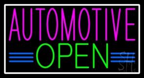 Automotive Open Neon Sign