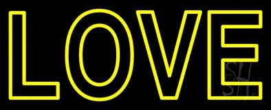 Block Love Neon Sign
