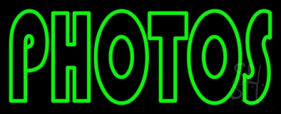 Green Double Stroke Photos Neon Sign