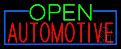 Open Automotive Neon Sign