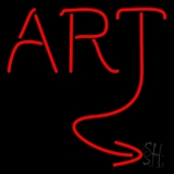 Red Art Neon Sign