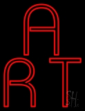 Red Double Stroke Art Neon Sign