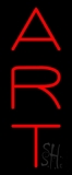 Vertical Red Art 1 Neon Sign