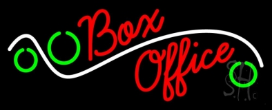 Box Office Neon Sign