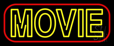 Double Stroke Movie Neon Sign