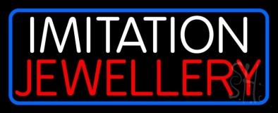 Imitation Jewelry Blue Border Neon Sign
