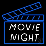 Movie Night Neon Sign