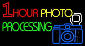 One Hour Photo Processing Neon Sign