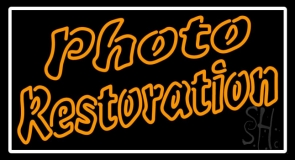 Photo Restoration Neon Sign