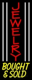 White Line Jewelry Bought And Sold Neon Sign