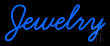 Blue Jewelry Neon Sign