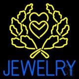Blue Jewelry Block Logo Neon Sign
