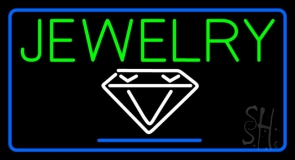 Jewelry Block Diamond Logo Neon Sign