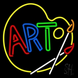 Multi Color Art With Palate Neon Sign