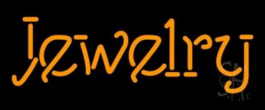 Orange Jewelry Neon Sign