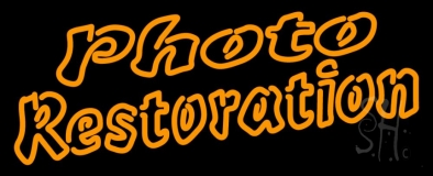 Orange Photo Restoration Neon Sign