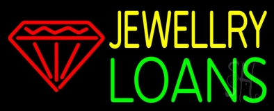 Red Diamond Jewelry Loans Neon Sign