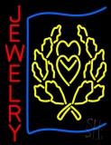 Red Jewlery Block Logo Neon Sign