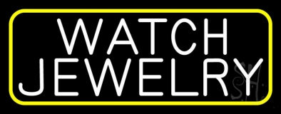 White Watch Jewelry Neon Sign