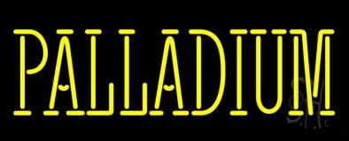 Yellow Palladium Neon Sign