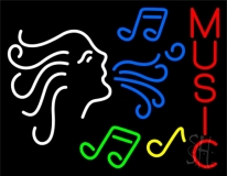 Angel Notes Music 2 Neon Sign