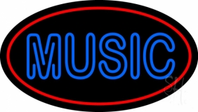 Blue Music Block 3 Neon Sign