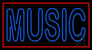 Blue Music Block Neon Sign