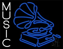 Gramophone Music 1 Neon Sign