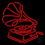 Gramophone Music Neon Sign