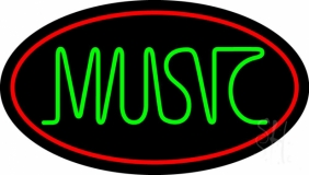 Green Music Block 2 Neon Sign