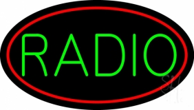 Green Radio Music Red Border 1 Neon Sign