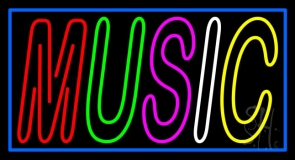 Multicolored Music 1 Neon Sign