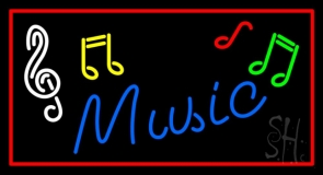 Music Blue Neon Sign