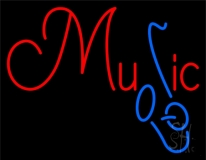 Music Blue Saxophone 2 Neon Sign