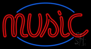 Music Double Stroke Neon Sign