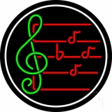 Music Note 1 Neon Sign