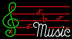 Music Note 2 Neon Sign