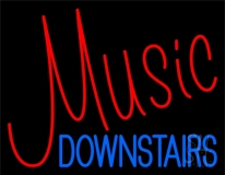 Music Red Neon Sign