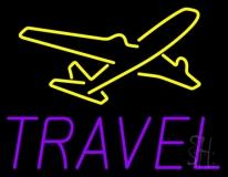 Purple Travel Neon Sign