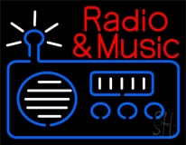 Radio Logo Music And Radio Red 2 Neon Sign