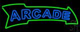 Blue Double Stroke Arcade Neon Sign