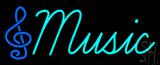 Musical Note Red Music Neon Sign