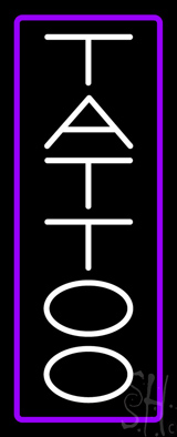 Vertical Tattoo with Border Neon Sign