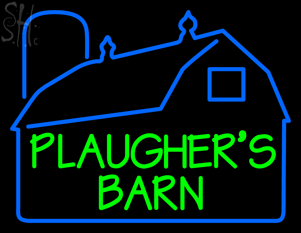 custom plaugher barn home logo neon sign 2 neon custom signs every thing neon. Black Bedroom Furniture Sets. Home Design Ideas