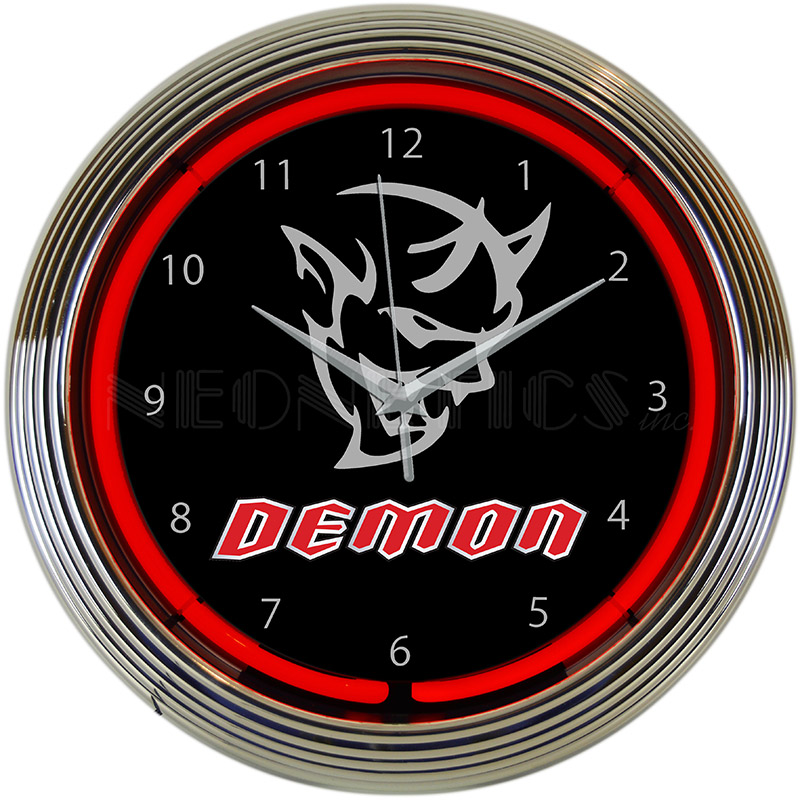 Dodge Demon Auto Neon Clock