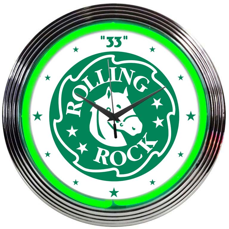 Rolling Rock Beer Neon Clock | Clocks Neon Signs - Every